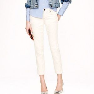 J. Crew White Matchstick Cropped Jeans Size 26